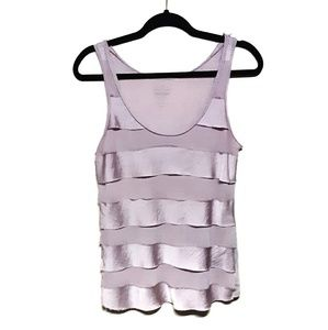 Old Navy Tiered Mixed Material Tank